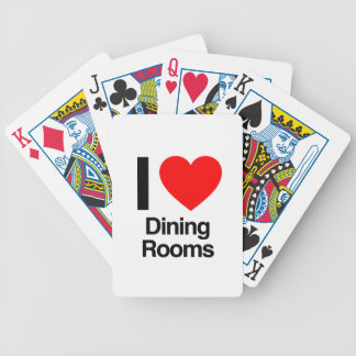 i love dining rooms bicycle card deck