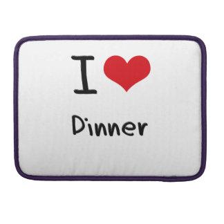 I Love Dinner MacBook Pro Sleeves
