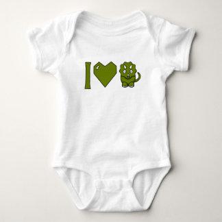 I Love Dinos! Baby Bodysuit