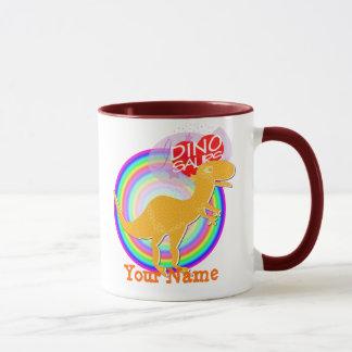 I love Dinos T-Rex & Stegosaurus Name Mug