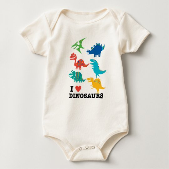I love dinosaurs baby bodysuit