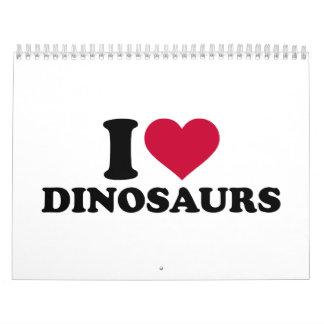 I love Dinosaurs Calendar