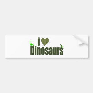 I Love Dinosaurs Car Bumper Sticker