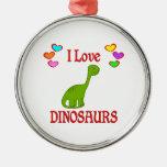 I Love Dinosaurs Christmas Tree Ornament