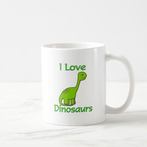 I Love Dinosaurs Coffee Mug