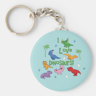 I Love Dinosaurs! (Cute) Keychain
