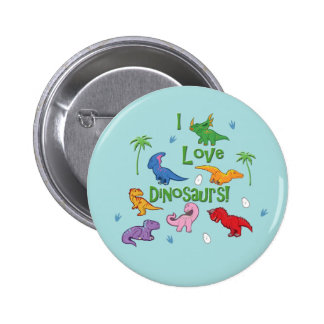 I Love Dinosaurs! (Cute) Pinback Button