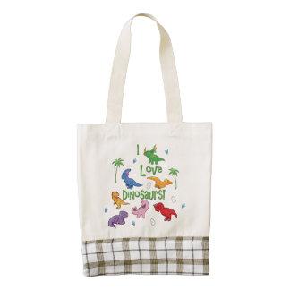 I Love Dinosaurs! (Cute) Zazzle HEART Tote Bag