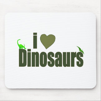 I Love Dinosaurs Mouse Pad