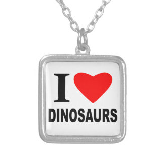 I Love Dinosaurs Personalised Necklace