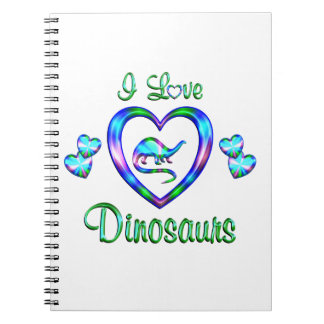 I Love Dinosaurs Notebook