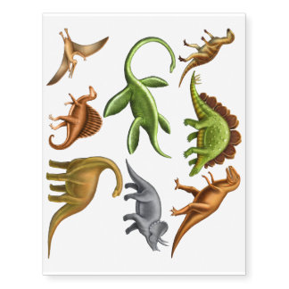 I Love Dinosaurs Paleontology Temporary Tattoos