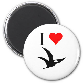 I Love Dinosaurs - Pterodactyl 2 Inch Round Magnet