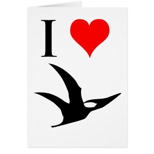 I Love Dinosaurs - Pterodactyl Greeting Card