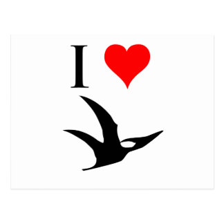 I Love Dinosaurs - Pterodactyl Post Cards