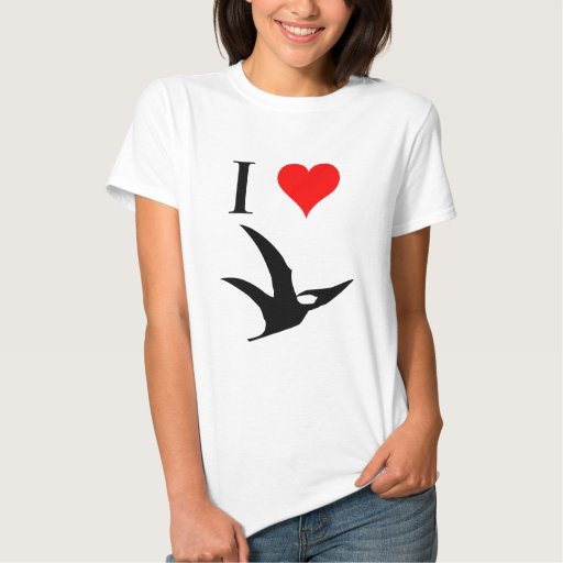 I Love Dinosaurs - Pterodactyl Shirt