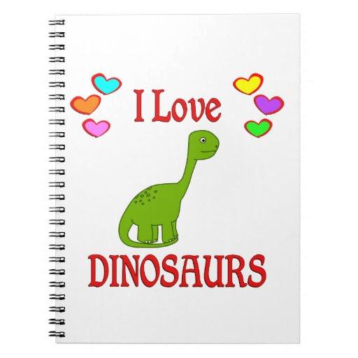 I Love Dinosaurs Spiral Notebooks