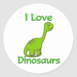 I Love Dinosaurs Stickers