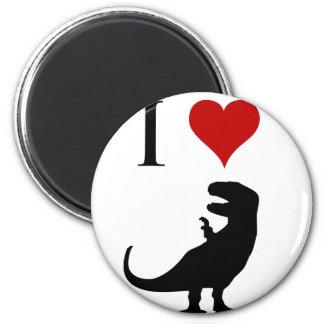 I Love Dinosaurs - T-Rex 2 Inch Round Magnet