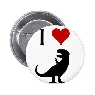 I Love Dinosaurs - T-Rex Button