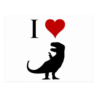 I Love Dinosaurs - T-Rex Postcard