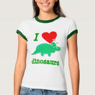 I love Dinosaurs Triceratops T-Shirt