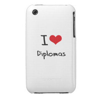 I Love Diplomas iPhone 3 Cases