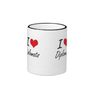 I love Diplomats Ringer Coffee Mug