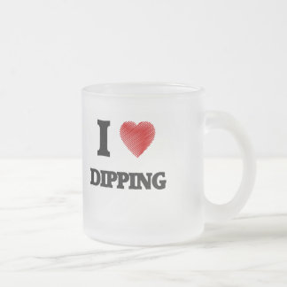 I love Dipping Frosted Glass Coffee Mug