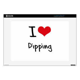 I Love Dipping Laptop Decal