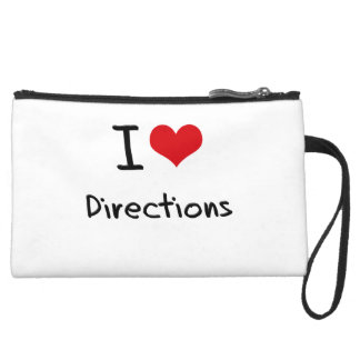 I Love Directions Wristlet Clutch