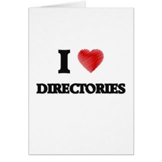 I love Directories Card