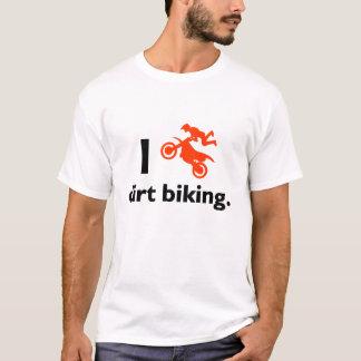 I Love Dirt Biking Men White T-shirts