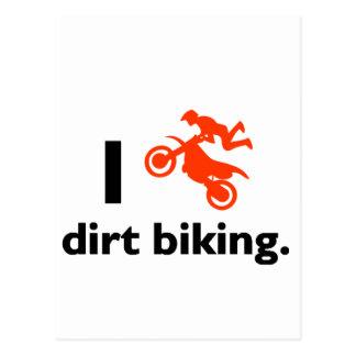 I Love Dirt Biking Postcard