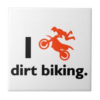 I Love Dirt Biking Small Square Tile