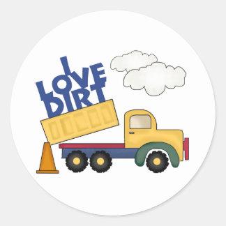 I Love Dirt Boys Gift Classic Round Sticker