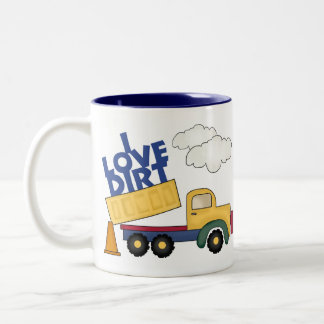 I Love Dirt Boys Gift Two-Tone Coffee Mug