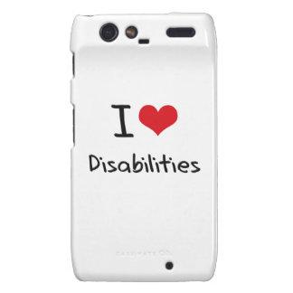 I Love Disabilities Droid RAZR Cover
