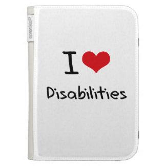 I Love Disabilities Kindle Folio Cases