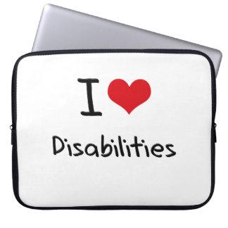 I Love Disabilities Computer Sleeve