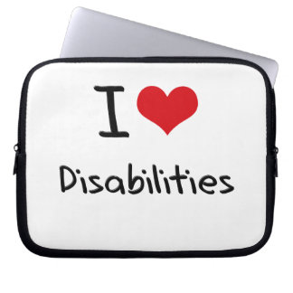 I Love Disabilities Laptop Sleeves