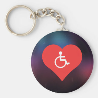 I Love Disability Placards Modern Basic Round Button Keychain