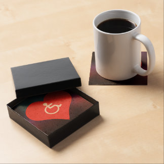 I Love Disability Placards Modern Beverage Coasters