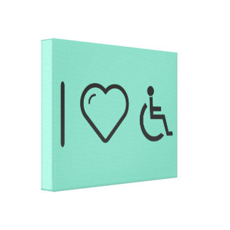 I Love Disabled Persons Canvas Print