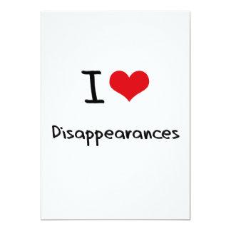 I Love Disappearances 5x7 Paper Invitation Card