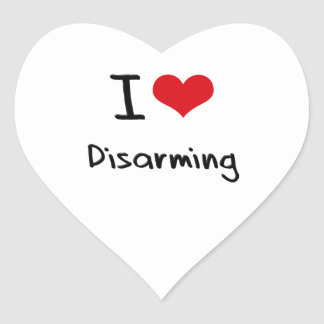 I Love Disarming Heart Sticker
