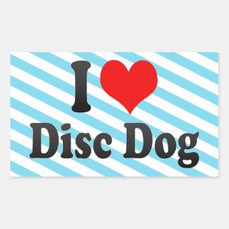 I love Disc Dog Sticker