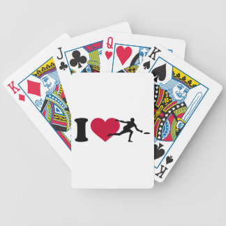 I love Disc golf Bicycle Playing Cards