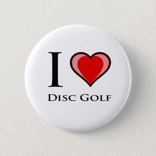 I Love Disc Golf Pinback Button