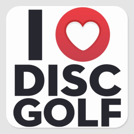 I Love Disc Golf Sticker Pack